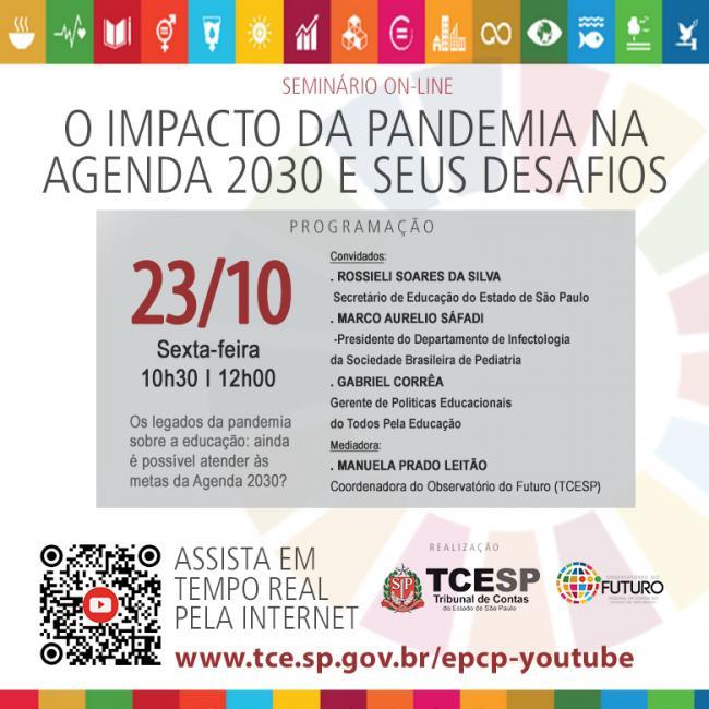 Cartaz: O impacto da pandemia na Agenda 2030 e seus desafios