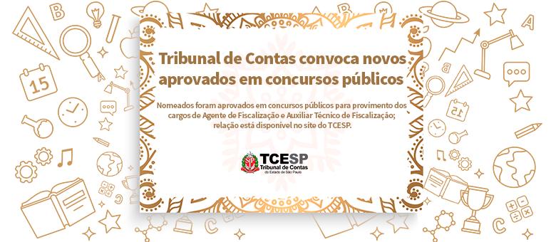 Tribunal de Contas convoca novos aprovados em concurso público
